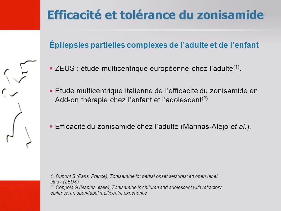 Efficacité et tolérance du zonisamide 1.