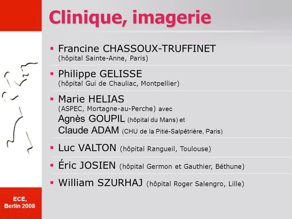 Francine CHASSOUX-TRUFFINET (hôpital Sainte-Anne, Paris) Philippe GELISSE (hôpital Gui de Chauliac, Montpellier) Marie HELIAS (ASPEC, Mortagne-au-Perc