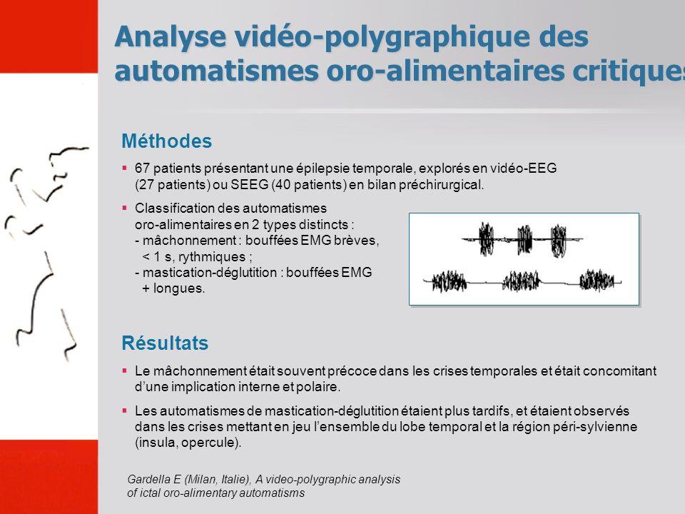 Analyse vidéo-polygraphique des automatismes oro-alimentaires critiques Gardella E (Milan, Italie), A video-polygraphic analysis of ictal oro-alimenta