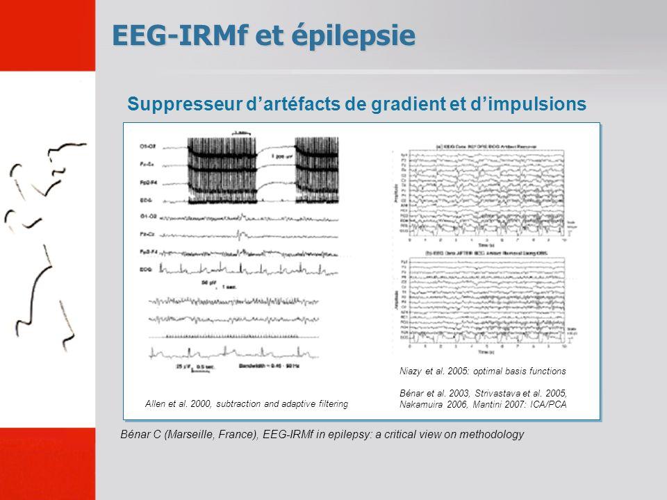 EEG-IRMf et épilepsie Bénar C (Marseille, France), EEG-IRMf in epilepsy: a critical view on methodology Suppresseur dartéfacts de gradient et dimpulsions Allen et al.
