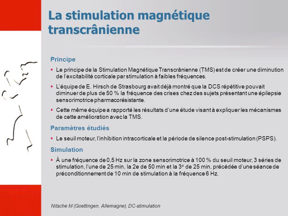 La stimulation magnétique transcrânienne Principe Le principe de la Stimulation Magnétique Transcrânienne (TMS) est de créer une diminution de lexcita