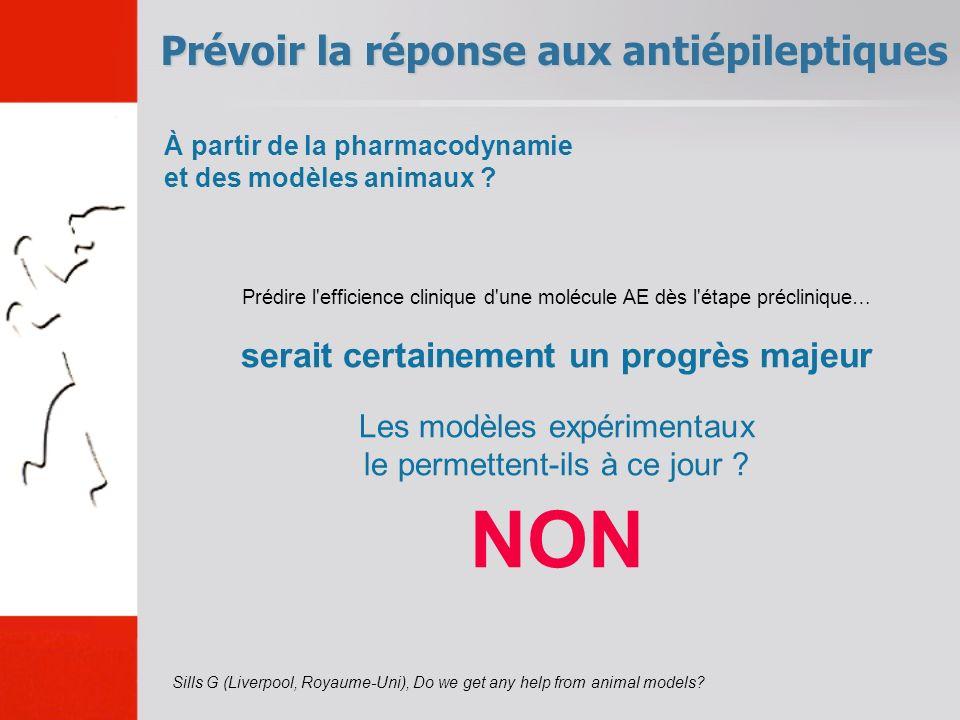 Prévoir la réponse aux antiépileptiques Sills G (Liverpool, Royaume-Uni), Do we get any help from animal models.
