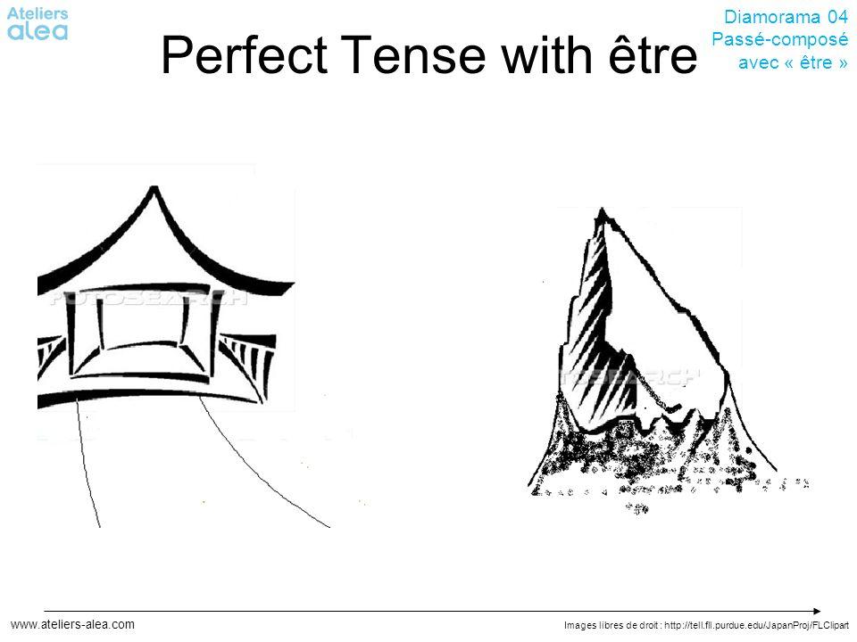 Images libres de droit : http://tell.fll.purdue.edu/JapanProj/FLClipart www.ateliers-alea.com Diamorama 04 Passé-composé avec « être » Perfect Tense with être
