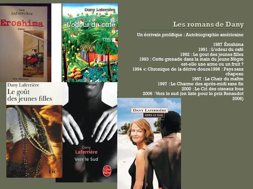1991 : Prix Carbet de la Caraibe Lodeur du café 1993: Prix Edgar-Lespérance 2009 : Prix Médicis Lénigme du retour 2010 : Grand Prix littéraire