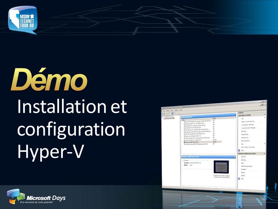 Installation et configuration Hyper-V