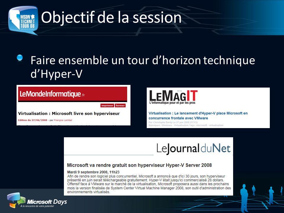 Cest quoi Hyper-V ? Cest lhyperviseur de Windows Server 2008 Hyper-V Virtualisation de machine