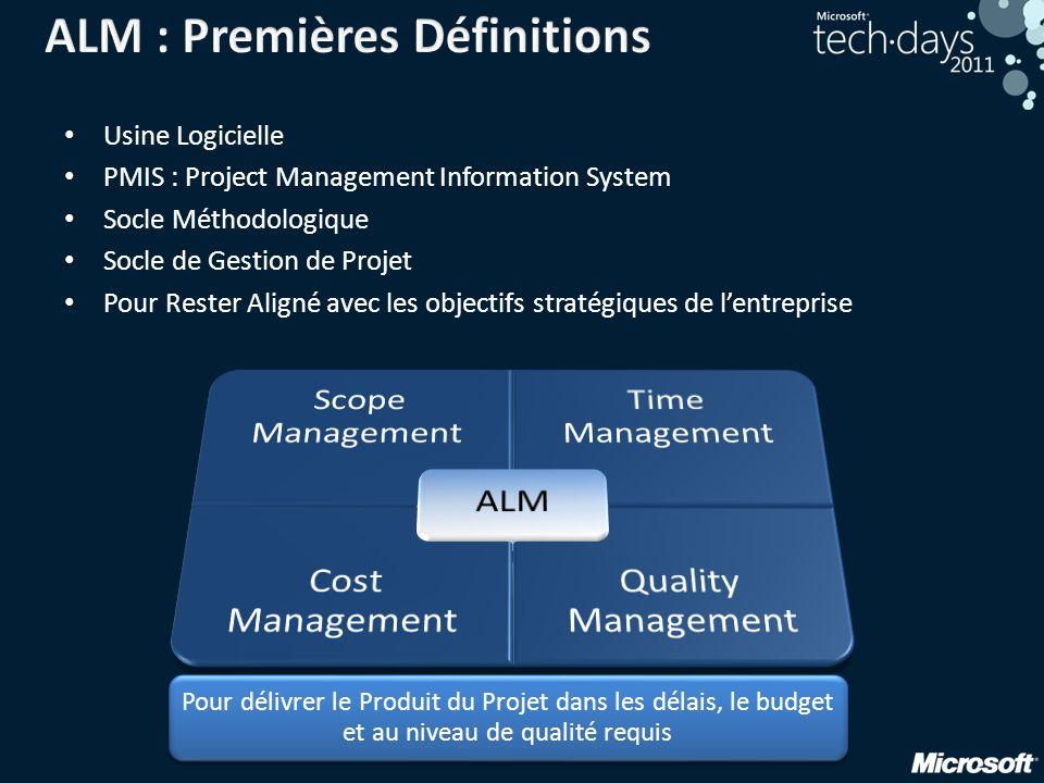 Pour délivrer le Produit du Projet dans les délais, le budget et au niveau de qualité requis Usine Logicielle PMIS : Project Management Information Sy