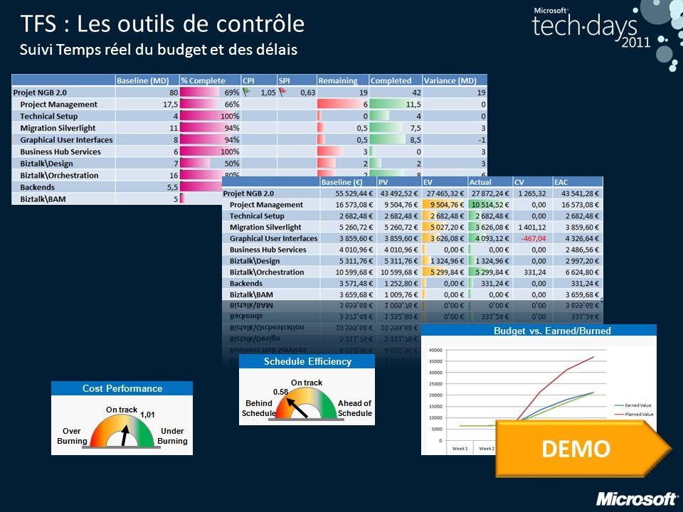TFS : Les outils de contrôle Suivi Temps réel du budget et des délais DEMO