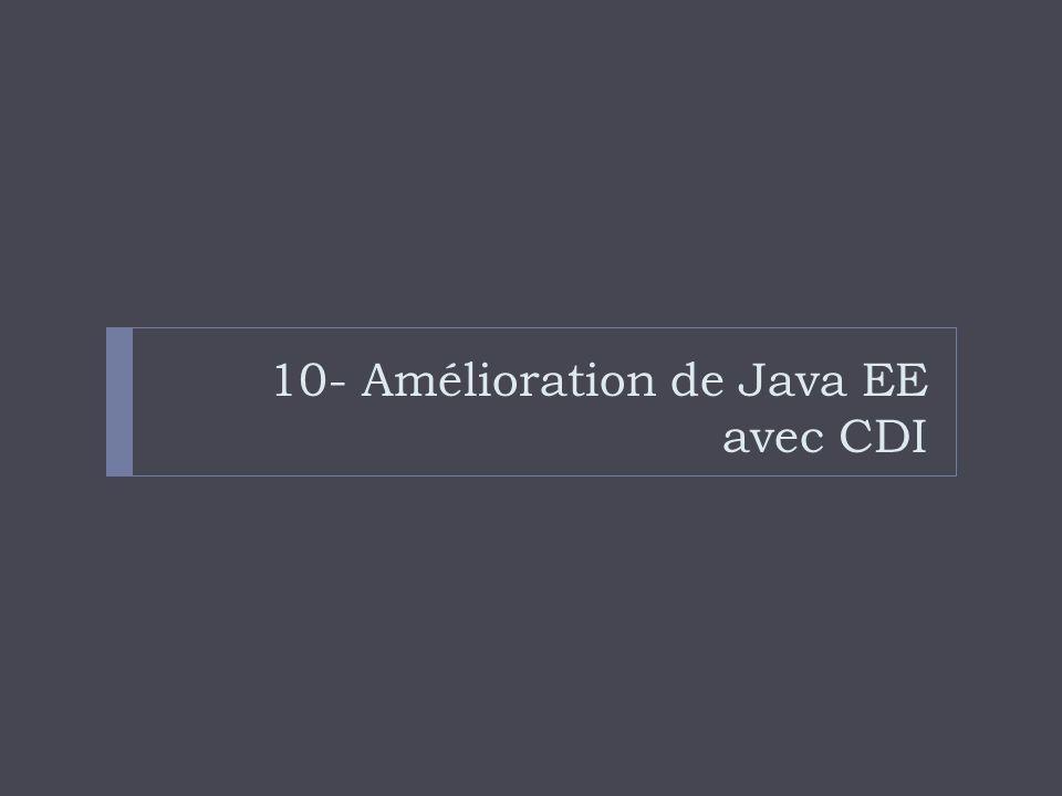 10- Amélioration de Java EE avec CDI