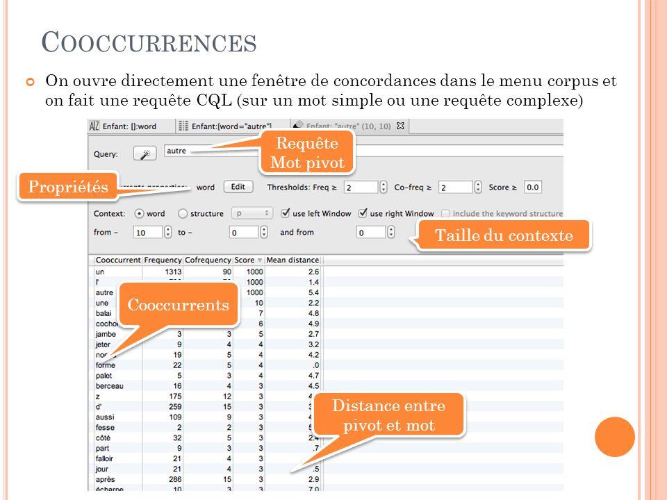 C ONCORDANCES Formes cible Choix des propriétés Eléments de tri Trier !
