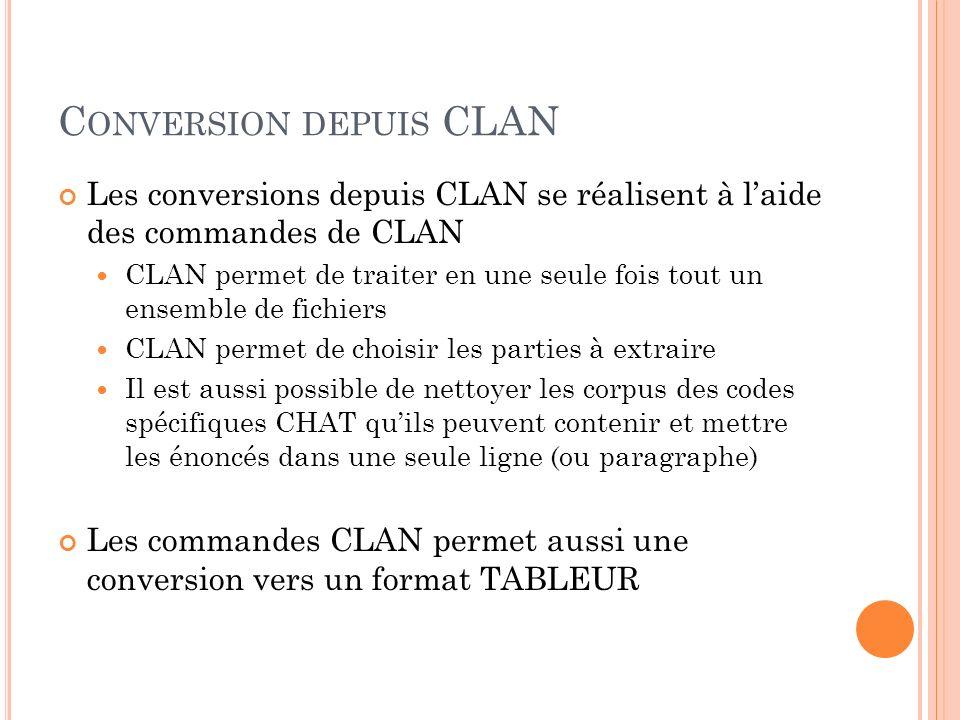 C ONVERSIONS.