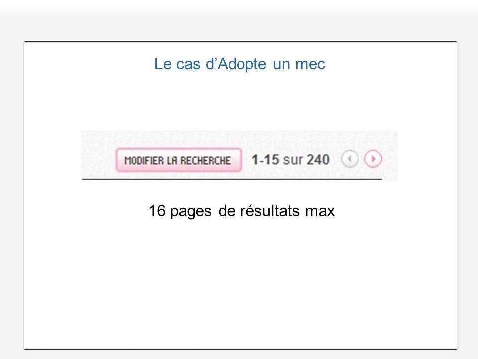 Le cas dAdopte un mec 16 pages de résultats max