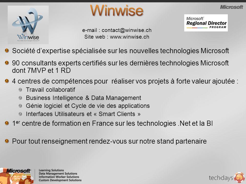 Société dexpertise spécialisée sur les nouvelles technologies Microsoft 90 consultants experts certifiés sur les dernières technologies Microsoft dont
