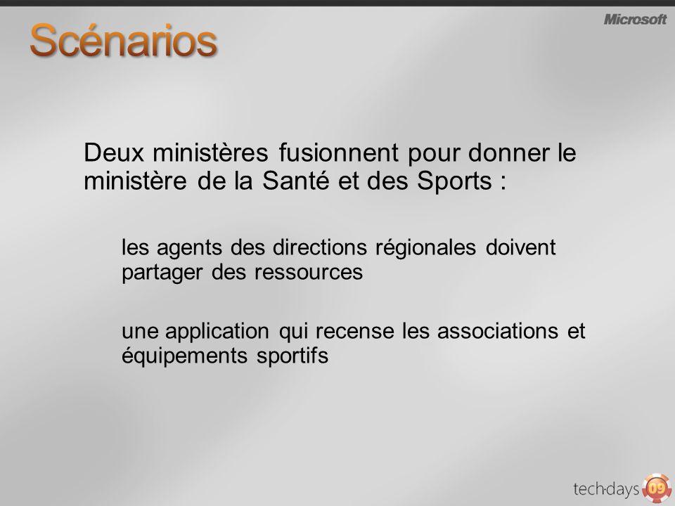 Deux ministères fusionnent pour donner le ministère de la Santé et des Sports : les agents des directions régionales doivent partager des ressources une application qui recense les associations et équipements sportifs