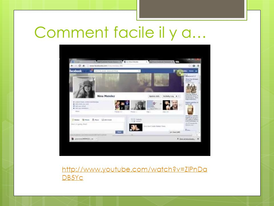 Comment facile il y a… http://www.youtube.com/watch?v=ZiPnDa DB5Yc
