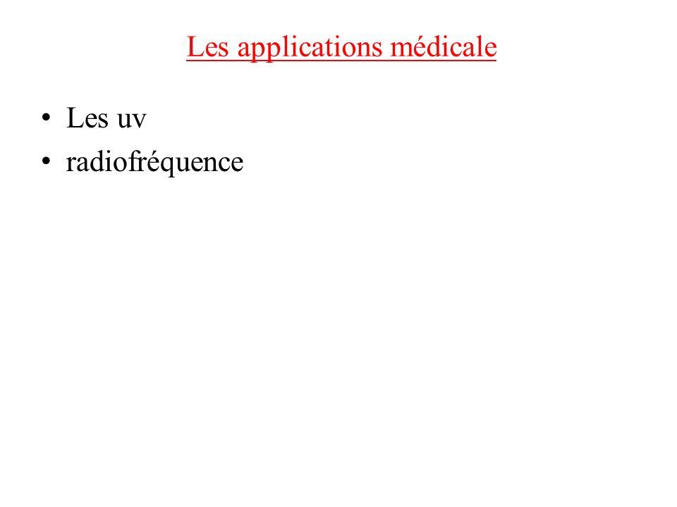 Les applications médicale Les uv radiofréquence