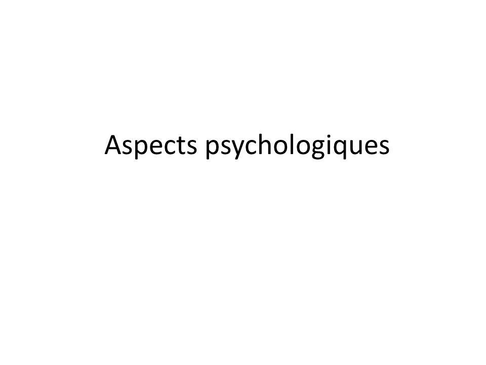 Aspects psychologiques