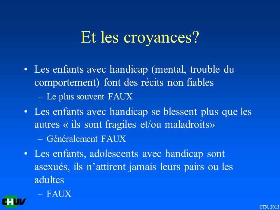 CJN, 2013 Et les croyances.