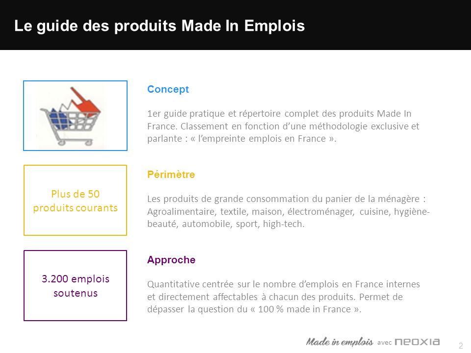 avec Plus de 50 produits courants 2 Concept 1er guide pratique et répertoire complet des produits Made In France.
