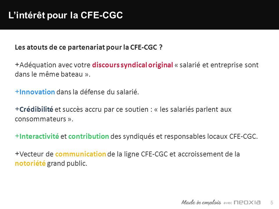avec 5 Lintérêt pour la CFE-CGC Les atouts de ce partenariat pour la CFE-CGC .
