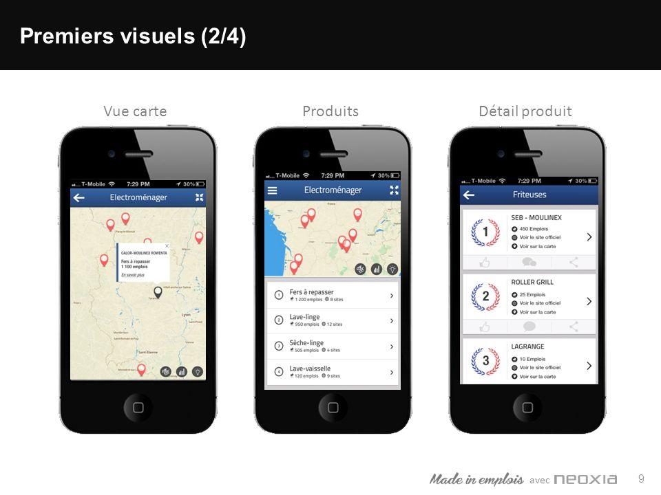 avec 9 Premiers visuels (2/4) ProduitsDétail produitVue carte