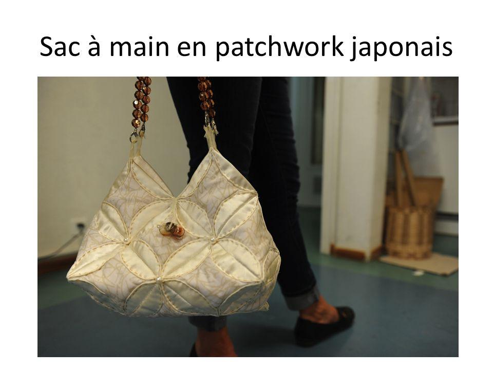 Sac à main en patchwork japonais