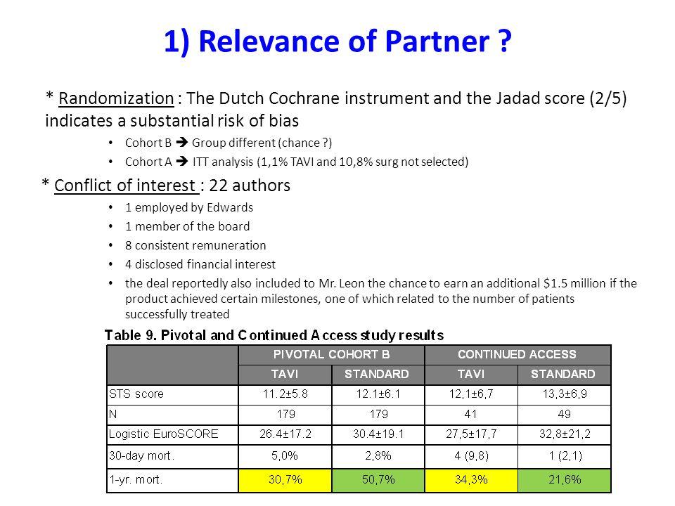 1) Relevance of Partner .