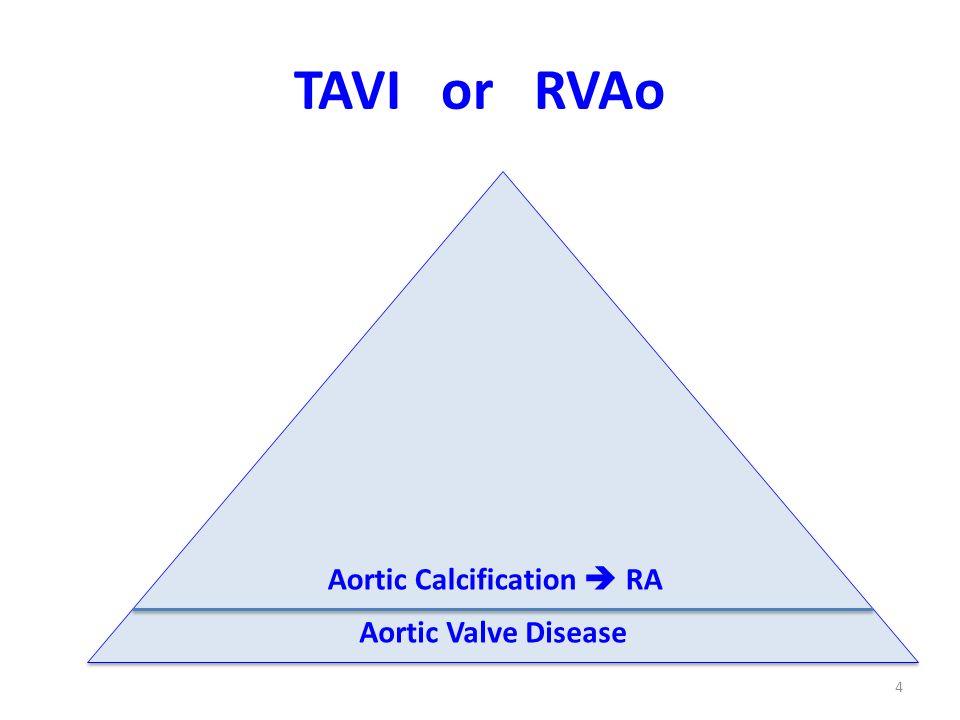 4 Aortic Calcification RA TAVI or RVAo