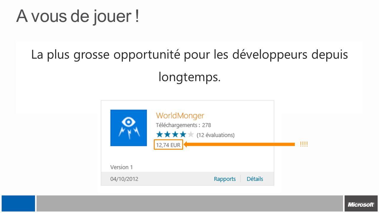 A vous de jouer ! La plus grosse opportunité pour les développeurs depuis longtemps. Ne passez pas à coté ! !!!!