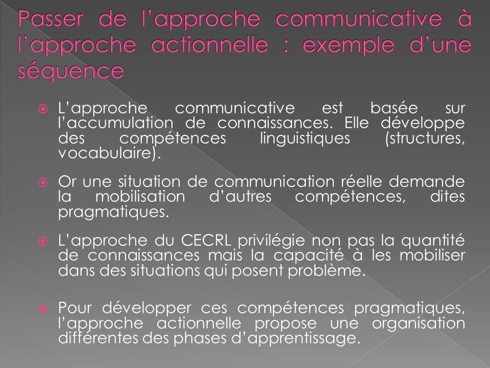 Lapproche communicative est basée sur laccumulation de connaissances.