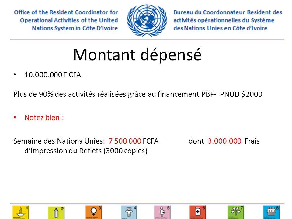 Actions en perspective 2013 Préparation de la semaine des Nations Unies (voir annexe) En collaboration avec le comité Programme, identification des résultats clés 2013 pour préparation de support (ex; plaquette ou dépliant).