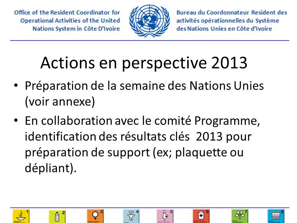 Actions en perspective 2014-2015 Prévision dune retraite pour développer les axes de communications en un plan détaillé de communication bi-annuel, avec des actions précises, message et budget.