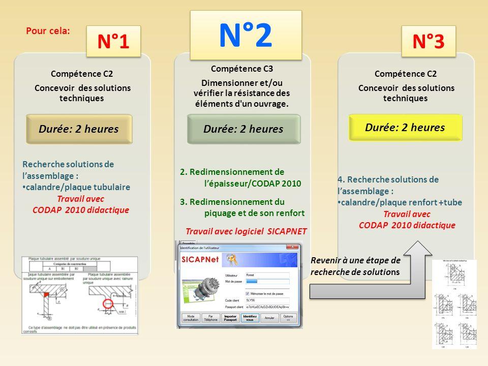 (Suite) Compétence C4 Élaborer des dossiers de définition d ouvrages Durée: 4 heures 4.