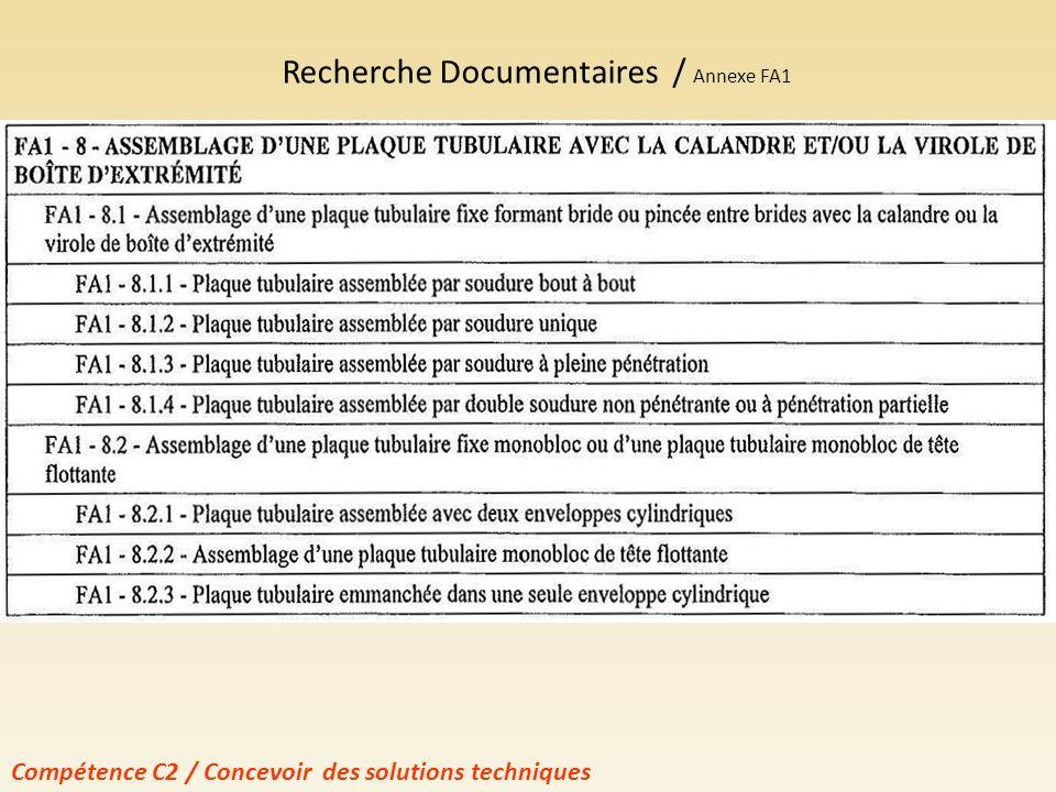 Contrainte de conception CODAP Lister toutes les solutions compatibles avec la catégorie de construction de lappareil (A) Choix définitif de la solution à retenir Compétence C2 / Concevoir des solutions techniques