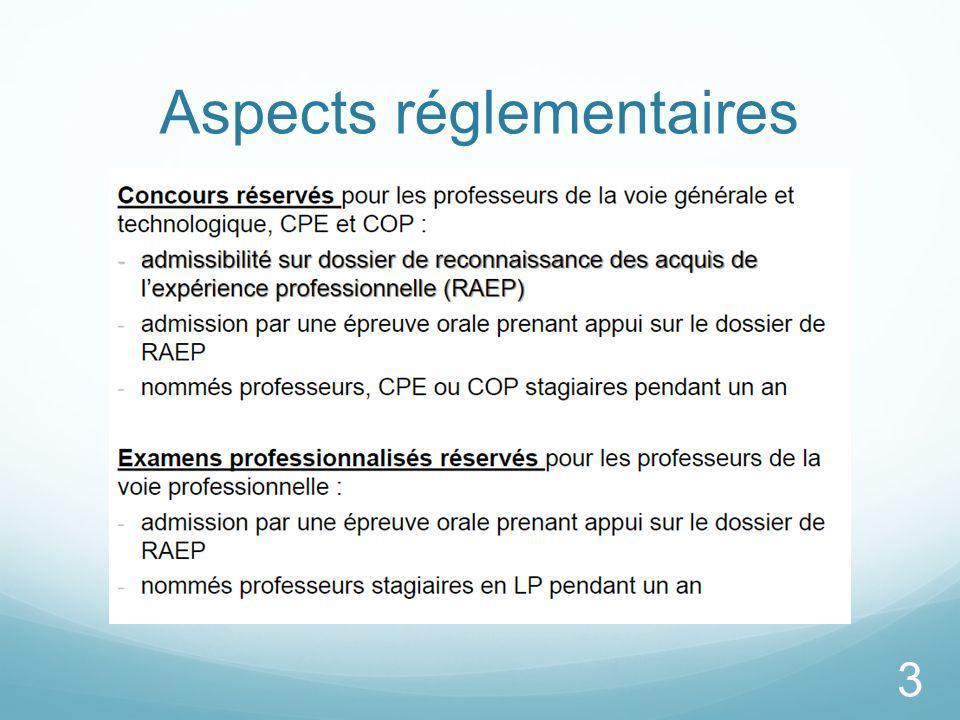 Aspects réglementaires 3