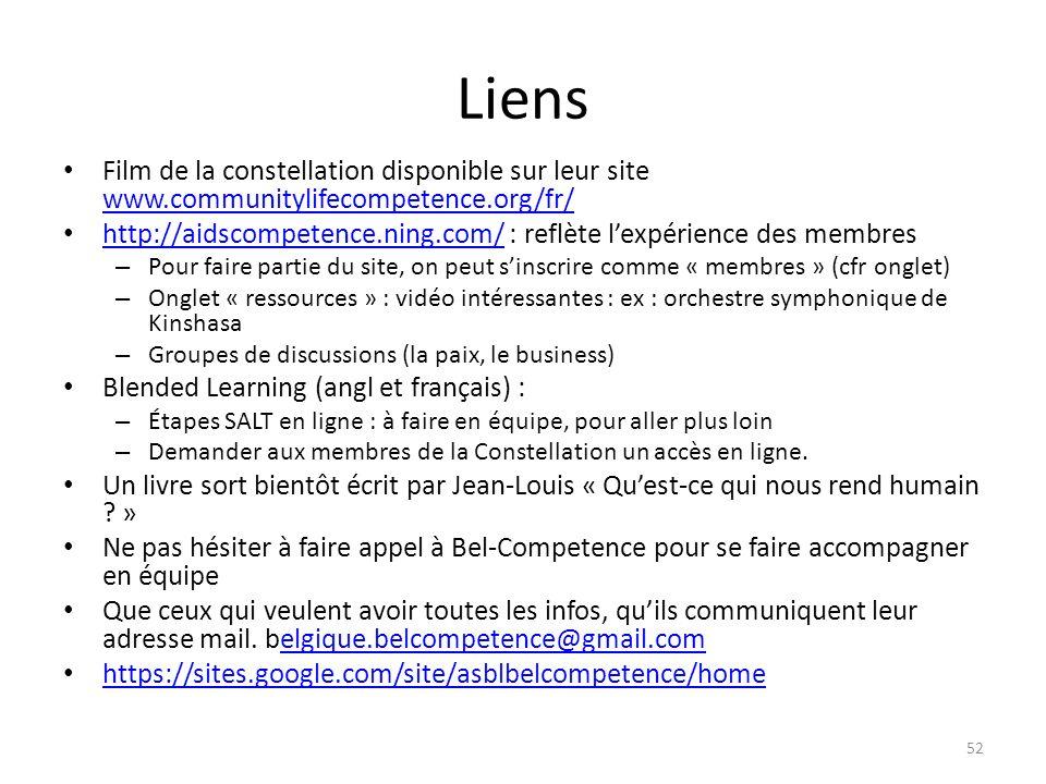 Liens Film de la constellation disponible sur leur site www.communitylifecompetence.org/fr/ www.communitylifecompetence.org/fr/ http://aidscompetence.