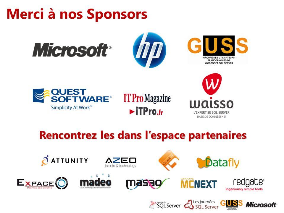 Merci à nos Sponsors Rencontrez les dans lespace partenaires