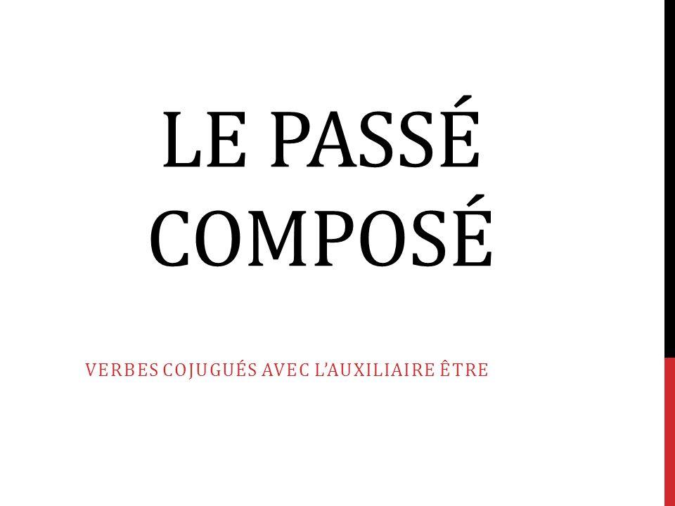 LE PASSÉ COMPOSÉ VERBES COJUGUÉS AVEC LAUXILIAIRE ÊTRE