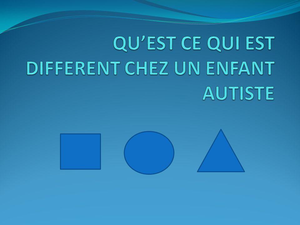 Lenfant ou la personne autiste ne ressent pas les choses comme nous. ressentir