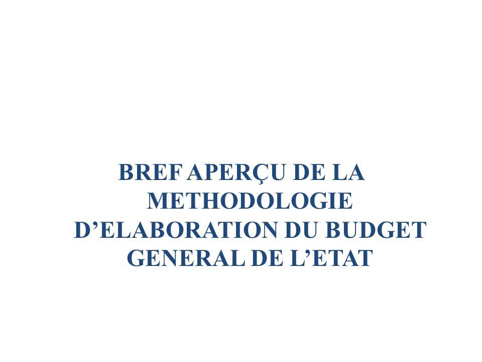 BREF APERÇU DE LA METHODOLOGIE DELABORATION DU BUDGET GENERAL DE LETAT