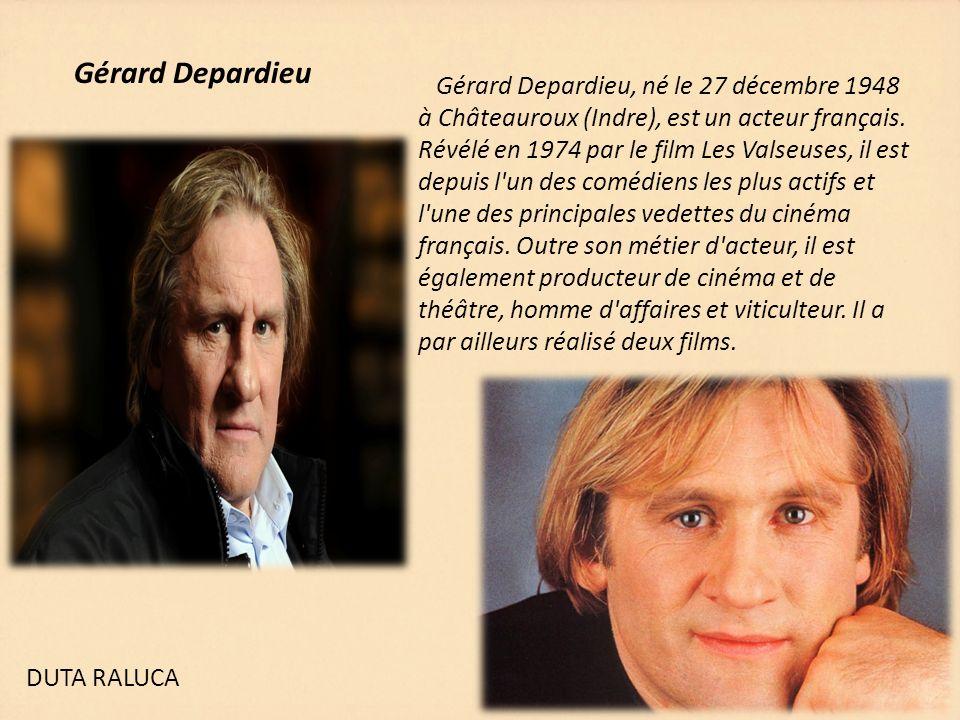 Gérard Depardieu Gérard Depardieu, né le 27 décembre 1948 à Châteauroux (Indre), est un acteur français. Révélé en 1974 par le film Les Valseuses, il