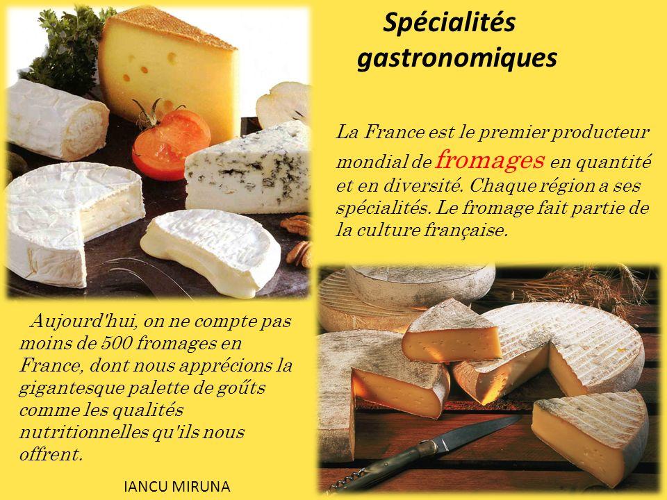La France est le premier producteur mondial de fromages en quantité et en diversité. Chaque région a ses spécialités. Le fromage fait partie de la cul