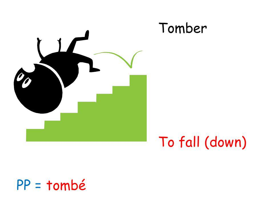 Tomber To fall (down) PP =tombé