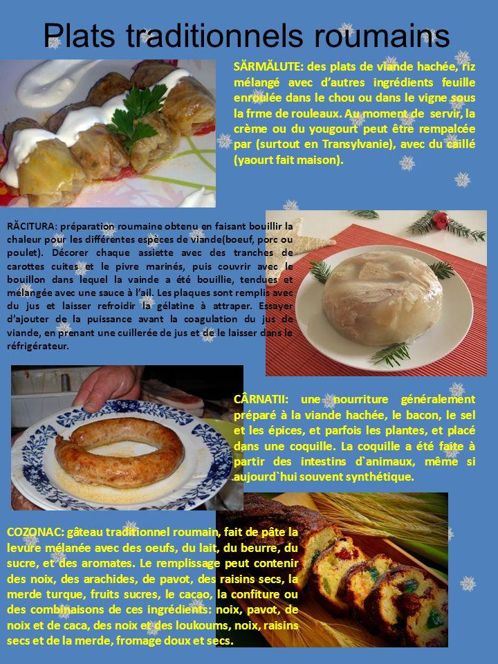 Plats traditionnels roumains SĂRMĂLUTE: des plats de viande hachée, riz mélangé avec dautres ingrédients feuille enroulée dans le chou ou dans le vigne sous la frme de rouleaux.
