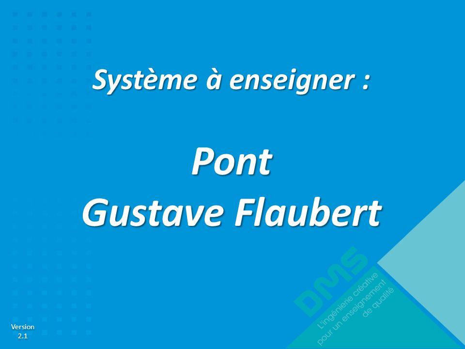 Version 2.1 Version 2.1 Système à enseigner : Pont Gustave Flaubert