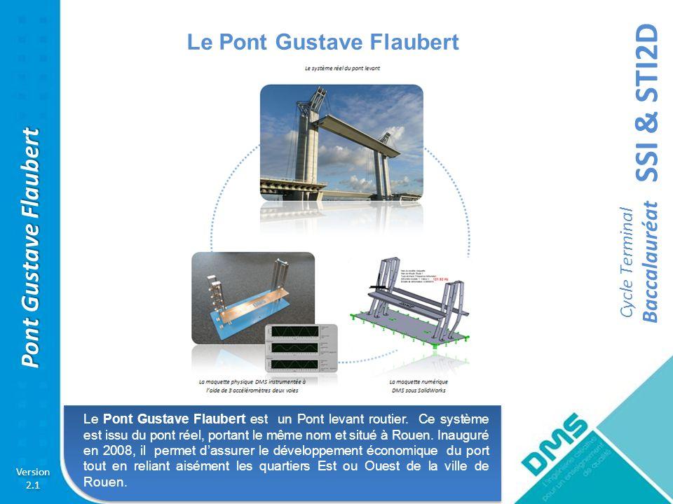 SSI & STI2D Cycle Terminal Baccalauréat Version 2.1 Version 2.1 Pont Gustave Flaubert AC Activité pratique sur lanalyse des solutions technologiques employées pour le Pont Gustave Flaubert et le choix des matériaux de construction.