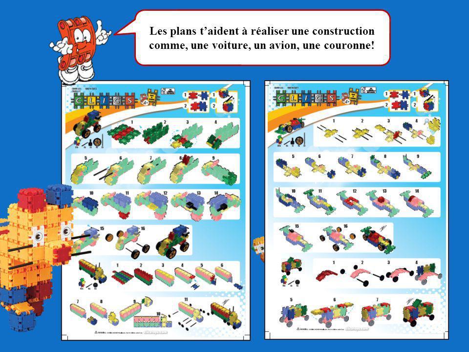 Les plans taident à réaliser une construction comme, une voiture, un avion, une couronne!