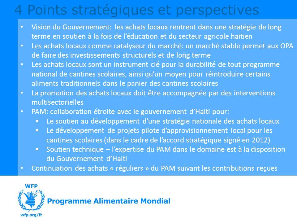 Vision du Gouvernement: les achats locaux rentrent dans une stratégie de long terme en soutien à la fois de léducation et du secteur agricole haïtien