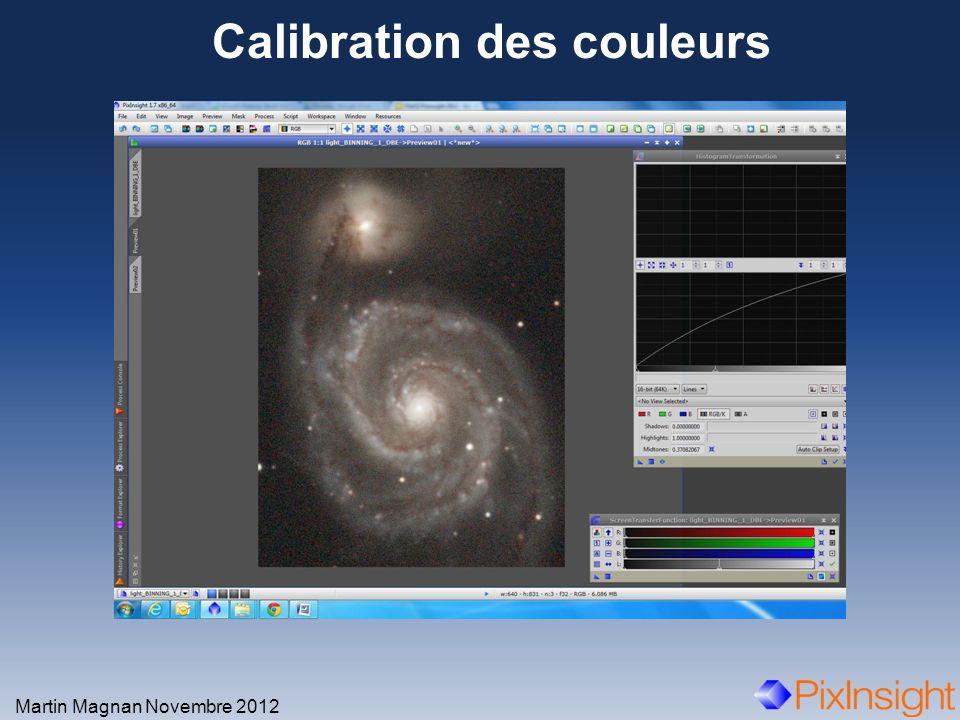 Calibration des couleurs Martin Magnan Novembre 2012 Zoom avant