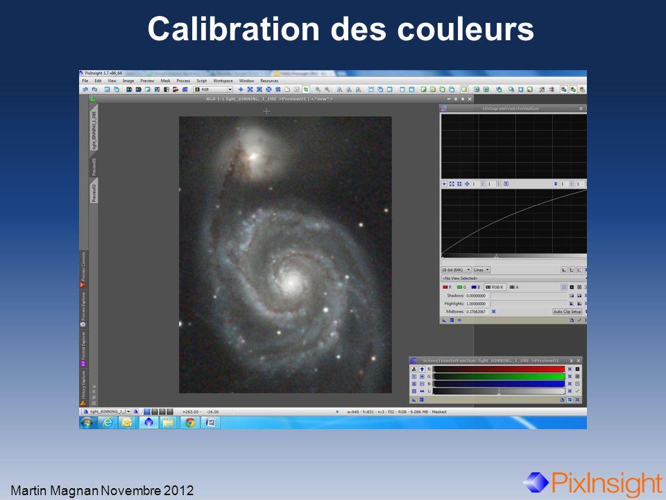 Calibration des couleurs Martin Magnan Novembre 2012 Zoom après